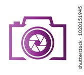 photography icon vector logo... | Shutterstock .eps vector #1020151945