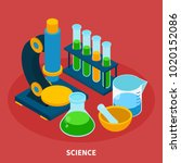 science isometric composition...   Shutterstock .eps vector #1020152086