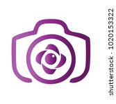 photography icon vector logo... | Shutterstock .eps vector #1020153322