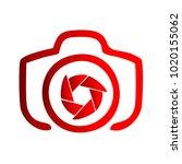 photography icon vector logo... | Shutterstock .eps vector #1020155062