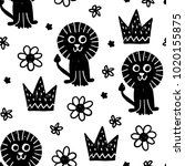 seamless childish pattern.... | Shutterstock .eps vector #1020155875