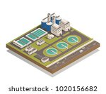 wastewater sewage  and water... | Shutterstock .eps vector #1020156682