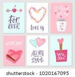 vector card illustration set... | Shutterstock .eps vector #1020167095
