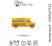 color vector image. school bus | Shutterstock .eps vector #1020167122