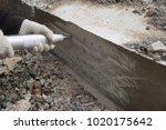 schmidth hammer testing that is ... | Shutterstock . vector #1020175642