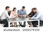young people sitting together... | Shutterstock . vector #1020179155