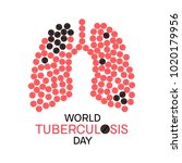 world tuberculosis day poster... | Shutterstock . vector #1020179956