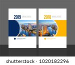 corporate cover design for... | Shutterstock .eps vector #1020182296