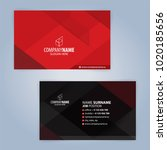 red and black modern business... | Shutterstock .eps vector #1020185656