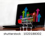 success in online shopping  ... | Shutterstock . vector #1020188302