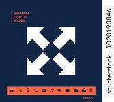 extend  resize icon. cross...   Shutterstock .eps vector #1020193846