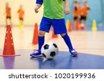football futsal training for... | Shutterstock . vector #1020199936