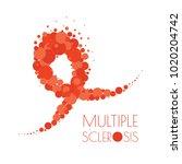 multiple sclerosis ribbon... | Shutterstock .eps vector #1020204742