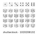 set of 24 icons of dice in all... | Shutterstock .eps vector #1020208132