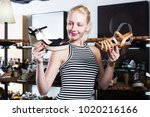 portrait of positive young girl ... | Shutterstock . vector #1020216166