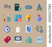 icons business with exchange ... | Shutterstock .eps vector #1020217282