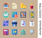 icons business with file ... | Shutterstock .eps vector #1020217306