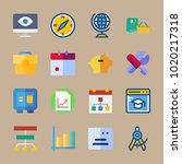 icons business with cap ... | Shutterstock .eps vector #1020217318
