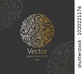 vector emblem. can be used for... | Shutterstock .eps vector #1020221176