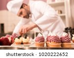 selective focus of confectioner ... | Shutterstock . vector #1020222652