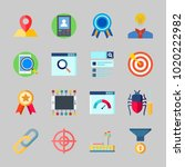 icons about seo with link ... | Shutterstock .eps vector #1020222982