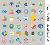 icons about marketing with user ...   Shutterstock .eps vector #1020222988