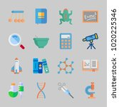 icons about science with poison ... | Shutterstock .eps vector #1020225346