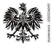 polish national emblem as...   Shutterstock .eps vector #1020226045