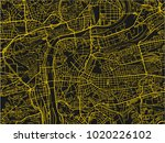 black and yellow vector city... | Shutterstock .eps vector #1020226102