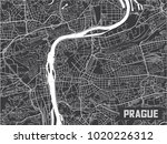minimalistic prague city map... | Shutterstock .eps vector #1020226312