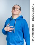 portrait of a man proud himself ... | Shutterstock . vector #1020226642