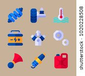 icons car engine with motor ... | Shutterstock .eps vector #1020228508