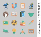 icons about science with... | Shutterstock .eps vector #1020228922