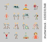 icons about human with... | Shutterstock .eps vector #1020231568
