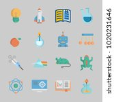 icons about science with... | Shutterstock .eps vector #1020231646