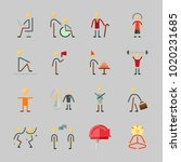 icons about human with worker ... | Shutterstock .eps vector #1020231685