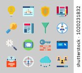 icons about seo with online... | Shutterstock .eps vector #1020231832
