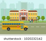 city street panoramic.kids... | Shutterstock .eps vector #1020232162