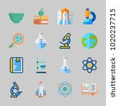 icons about science with... | Shutterstock .eps vector #1020237715