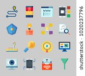 icons about seo with online  ... | Shutterstock .eps vector #1020237796