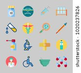 icons about medical with... | Shutterstock .eps vector #1020237826