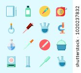 icons about laboratory with... | Shutterstock .eps vector #1020237832