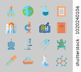 icons about science with planet ... | Shutterstock .eps vector #1020240106