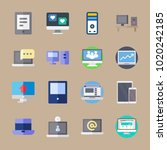 icons computer with computer ... | Shutterstock .eps vector #1020242185
