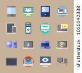 icons computer with medicine ... | Shutterstock .eps vector #1020242338