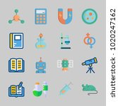 icons about science with... | Shutterstock .eps vector #1020247162