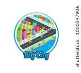 big city isometric real estate...   Shutterstock .eps vector #1020247906