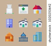 icons construction with capitol ... | Shutterstock .eps vector #1020253642