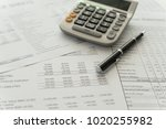 accounting business concept. ... | Shutterstock . vector #1020255982