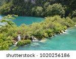 plitvice lakes national park ...   Shutterstock . vector #1020256186